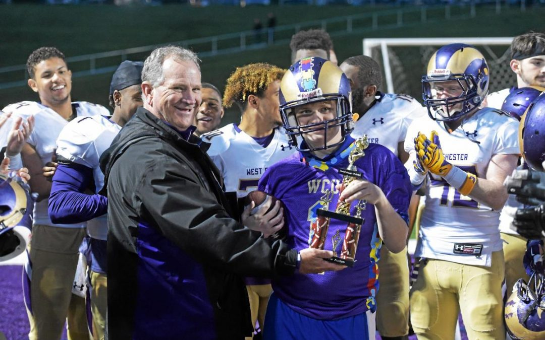 Field of Dreams: West Chester University football team gives autism kids a night to remember